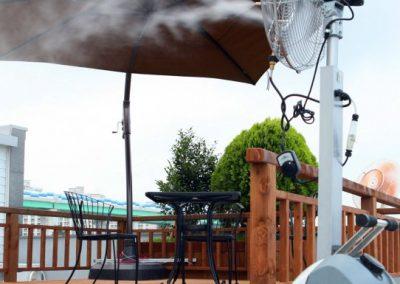Kültéri hűtés, párásítós ventilátor