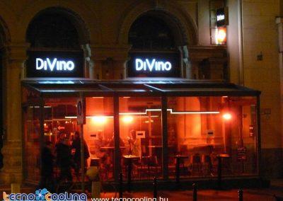 Kültéri infrafűtés, infrasugárzó - DiVino étterem