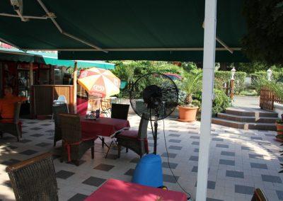 Kültéri mobil teraszhűtő ventilátor - Remete étterem