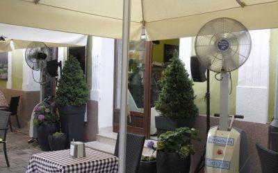 Váci éttermek teraszhűtése, 2012 nyár (Momo, Remete, Desszert szalon)