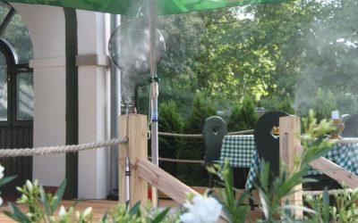 Tornácos étterem teraszhűtés